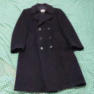 Men's Full Length Wool Dress Coat